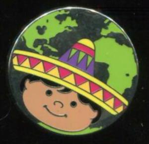 Mexico - Hidden Mickey It's A Small World pin