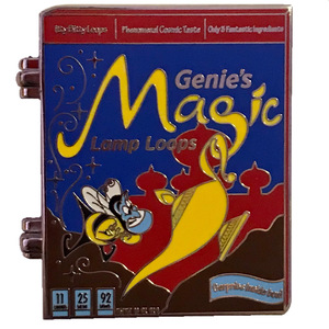 POM Cereal Boxes - Aladdin - Genie's Magic Lamp Loops pin
