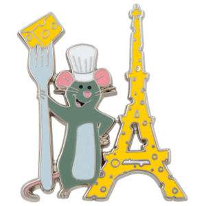 Remy with cheese Eiffel Tower - Remy's Ratatouille Adventure pin