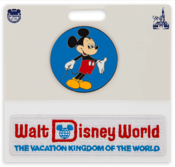 Mickey Mouse with patch -  Walt Disney World 50th Anniversary pin