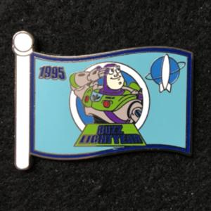 WDW Character Flag Buzz Lightyear  pin