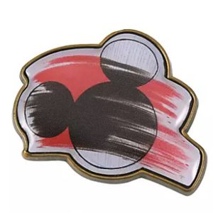 Sketch Mickey head silhouette pin