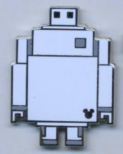 Baymax 8-bit Hidden Mickey pin