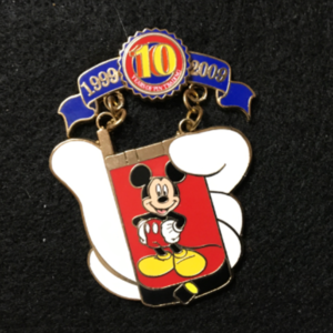 Pin Trading 10th Anniversary Tribute Cell Phone Mickey  pin