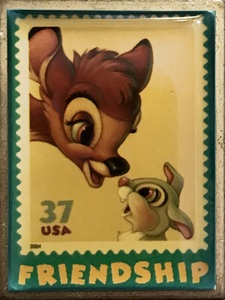 USPS - The Art of Disney - Friendship Stamps - Bambi and Thumper pin