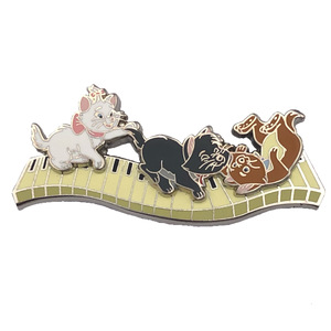 The Aristocats 50th Anniversary Aristokittens playing on piano pin