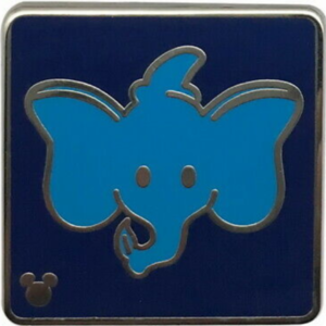 Dumbo the Flying Elephant - Hidden Mickey Attraction Icons pin