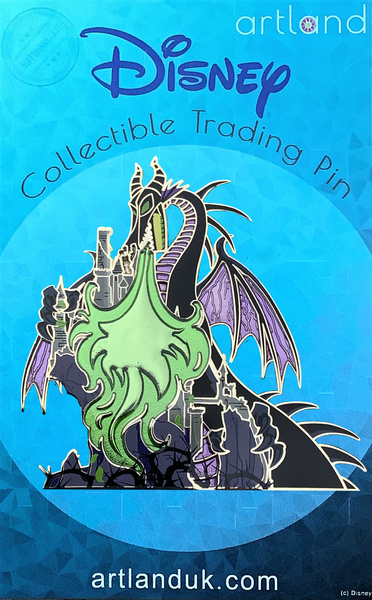 Maleficent Dragon and Castle - Princess and the Castle - Artland pin