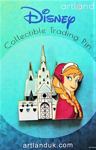 Anna and Arendelle Castle pin