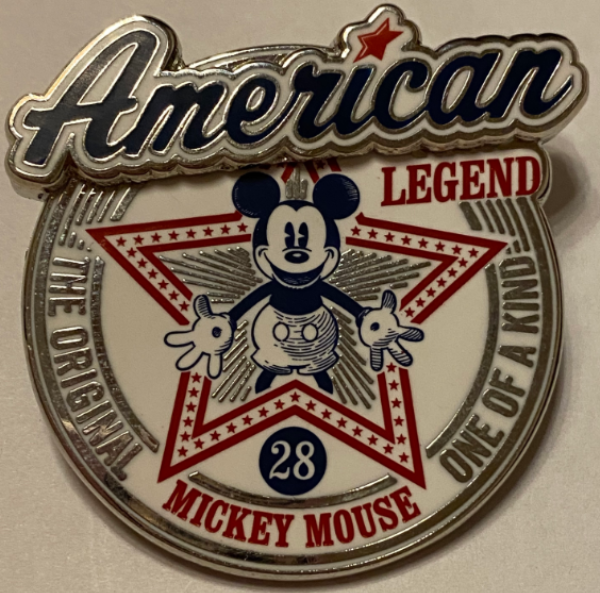 Mickey Mouse American Legend pin