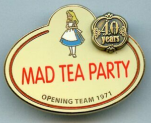 Mad Tea Party - Name Tag pin