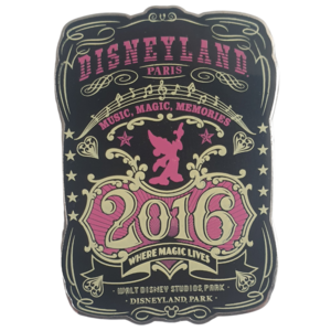 Disneyland Paris - Music, Magic, Memories - 2016 pin