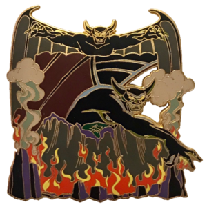 DLR 2003 Villains - Personality Framed - Chernabog: Self and Bald Mountain Frame pin