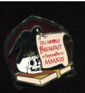 WDW - Reflections of Evil Event - Villainous Breakfast Gift pin