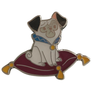 Pocahontas Percy on Cushion - Shanghai mystery cats and dogs bag pin