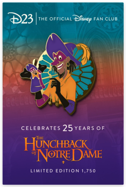 D23 Exclusive Clopin Pin – The Hunchback of Notre Dame 25th Anniversary pin