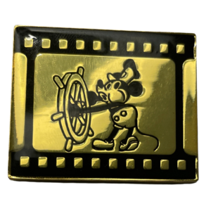 Disney Steamboat Willie Black & Gold Pin - HotTopic pin