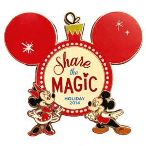 Disney Store Cast Member Exclusive - Share the Magic 2014 (magnetic pin) pin