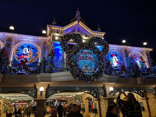 Christmas at Disneyland Paris.