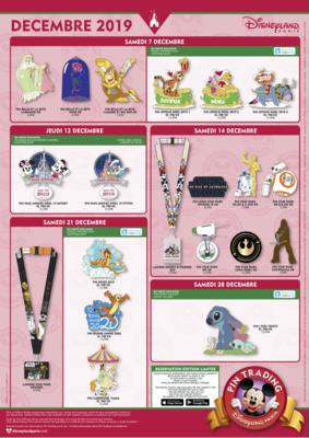 Disneyland Paris pin releases December 2019