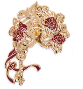 Belle Masquerade mask pin
