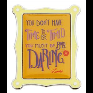 Lumiere Wisdom Quote pin