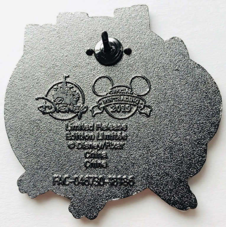 Here is an official pin, with two very clear nubs either side of the pin