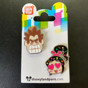 DLP - Wreck it Ralph and Vanellope 2 pin emoji set pin
