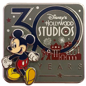 Disney's Hollywood Studios 30th Anniversary Panoramic Silhouette pin