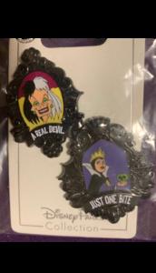 Cruella De Vil and the evil queen pin