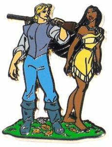 Pocahontas and John Smith - Disney Store 30th Anniversary pin