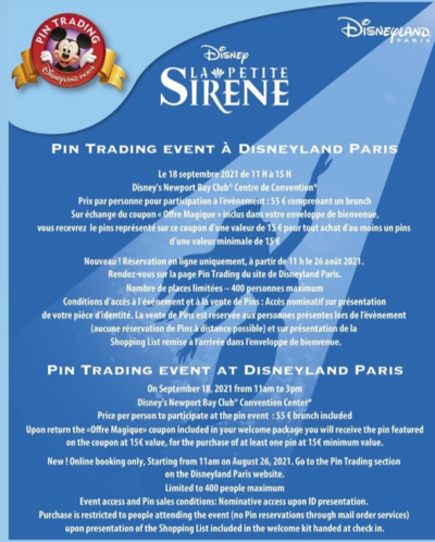 La Petite Sirene - Pin Trading Event Disneyland Paris