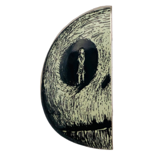 Jack and Sally in Skull (Set) - Sally only pin