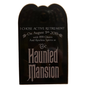 The haunted mansion 50th anniversary tombstone  pin