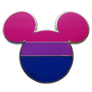 Mickey Mouse Icon Pin – Bisexual Flag – Rainbow Disney Collection pin