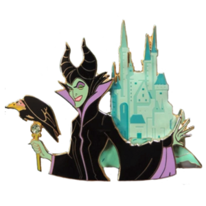 Maleficent and Castle - Princess and the Castle - Artland pin
