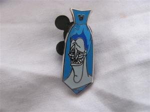 Hidden Mickey Wave A Villain Necktie - Hades pin
