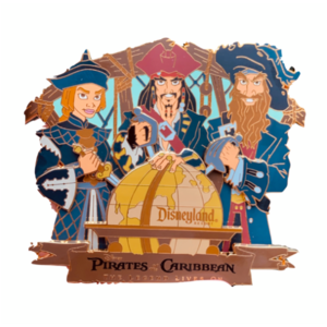 AP Disney Pin Pirates of the Caribbean Legend Live on pin