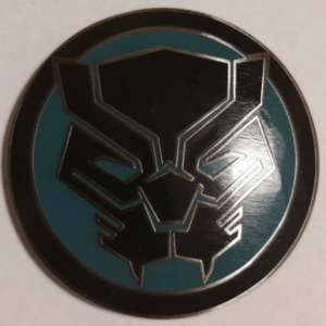 Black Panther circle logo HKDL pin