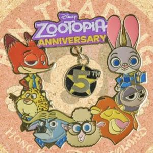 Zootopia 5th Anniversary - Hong Kong Disneyland pin