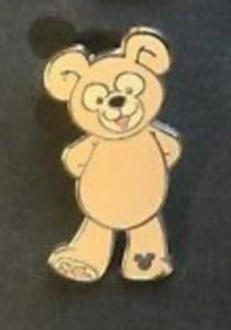 Duffy Arms Behind Back - Hidden Mickey Duffy the Disney Bear pin