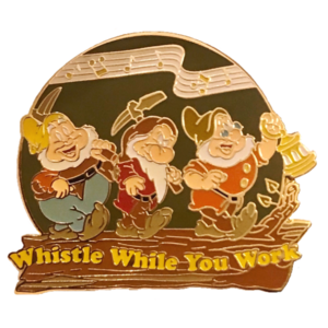 """Magical Musical Moments No. 46 - Snow White and the Seven Dwarfs - """"Whistle While You Work"""" pin"""