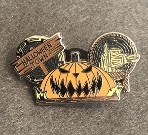 Halloween Town Pumpkin Mickey Ears pin