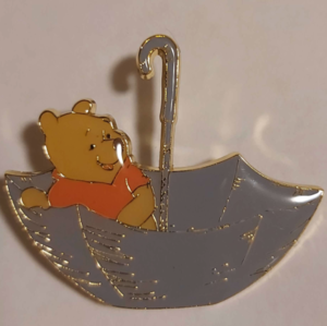Winnie the Pooh in umbrella - Loungefly pin