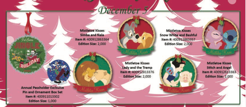 December 5th pin releases