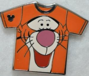 Tigger - Hidden Mickey Shirt WDW pin