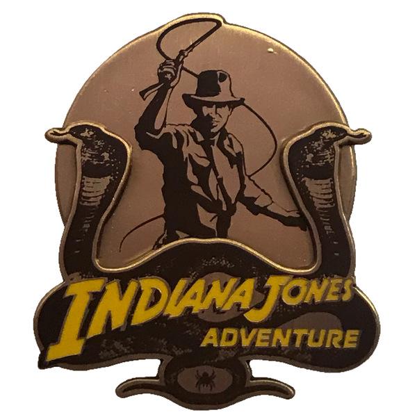 Indiana Jones Adventure - Snake and Spider Logo pin