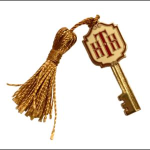 Twilight Zone Hollywood Tower Hotel Key - Gold Tassel pin