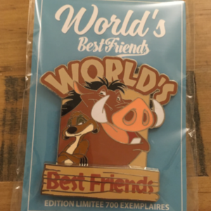Timon and Pumbaa - World's Best Friends pin