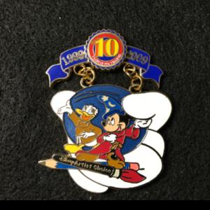 Pin Trading 10th Anniversary Tribute Mickey Donald  pin